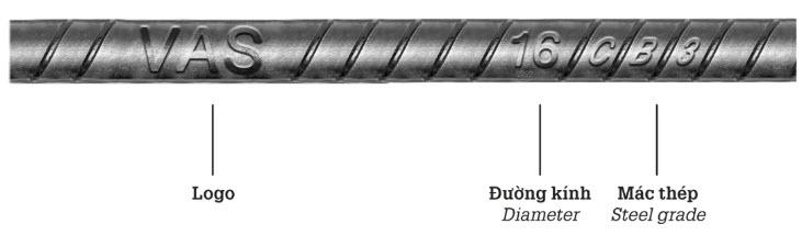 nhận biết thép thanh vằn Việt Mỹ CB300V