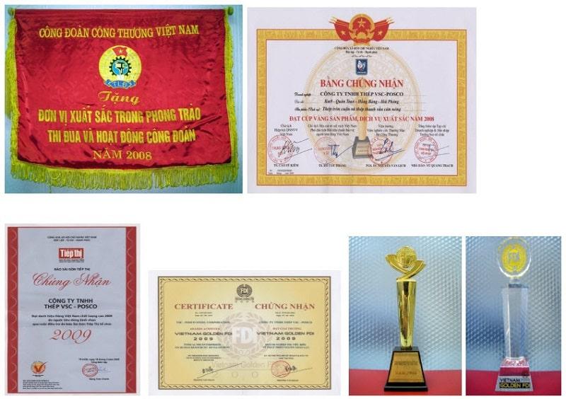 Thép Việt Hàn nhận nhiều bằng khen từ nhà nước