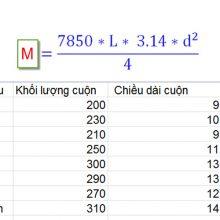 1 mét sắt phi 6 nặng bao nhiêu kg