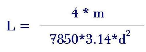 Công thức tính chiều dài cuộn thép phi 6