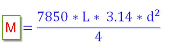 Công thức tính trọng lượng thép phi 6
